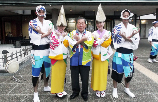【越谷市】やっぱ阿波踊りでしょ!高橋努市長の埼玉ポーズ!