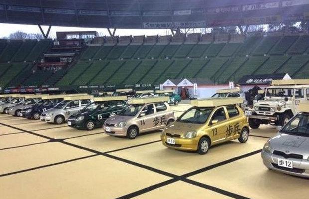 西武ドームで開催されたリアル車将棋がすごい