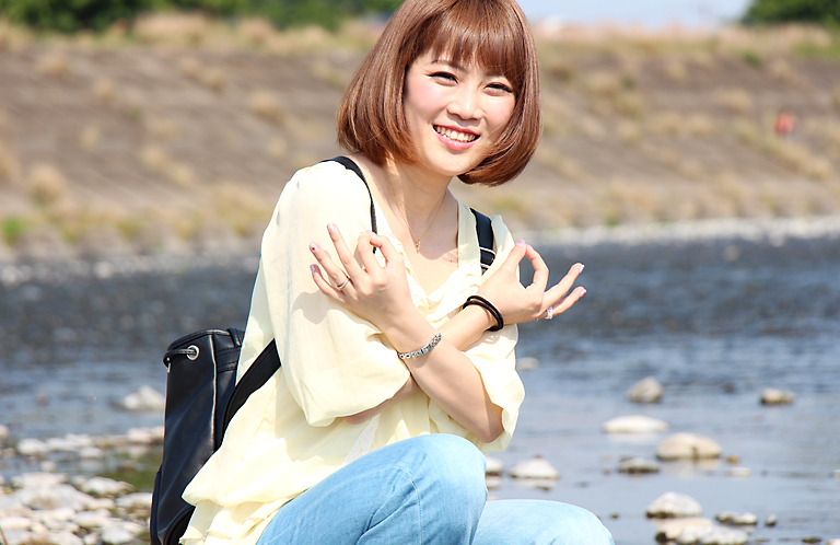 【動画】埼玉ポーズ美人×柳川陽香 in 熊谷桜堤