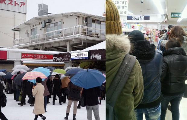上福岡駅で電車待ちの行列がスーパーの店内にまで伸びてしまった件