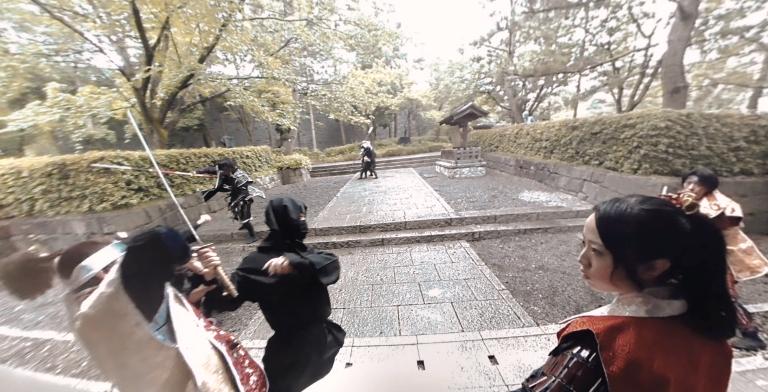 忍者をかわして姫と逃げろ!行田市のPR動画で360度パノラマVRを体感せよ!