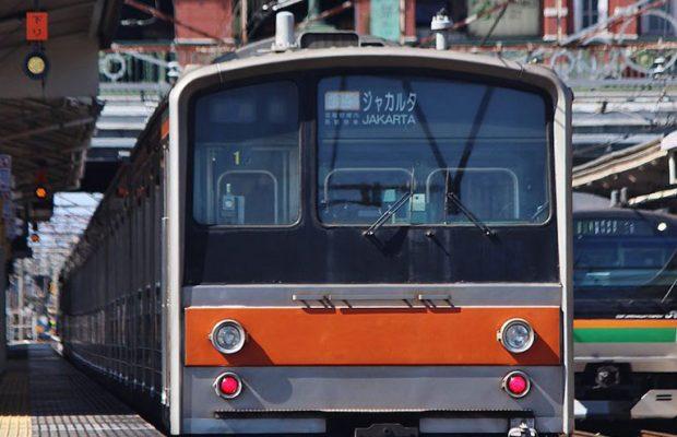 深谷駅にジャカルタ行き列車が登場