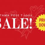 公式埼玉ポーズTシャツのセール開始